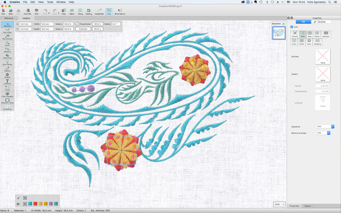 Creative Drawings Embroidery Software New Features